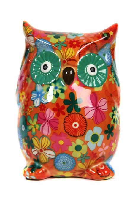 Floral Owl Money Box