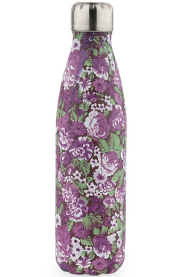 Floral Print Stainless Steel Water Bottle