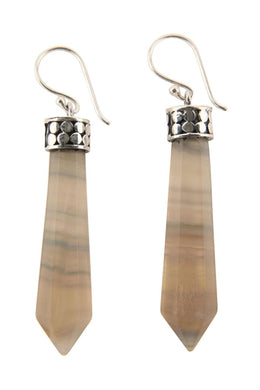 Fluorite Obelisk Earrings