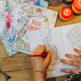 Food Glorious Food: A Colouring Book