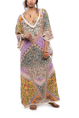 Fringe Flower Patch Kaftan