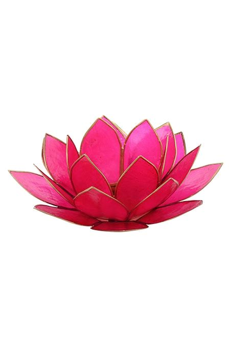 Fuschia Lotus Tealight Holder