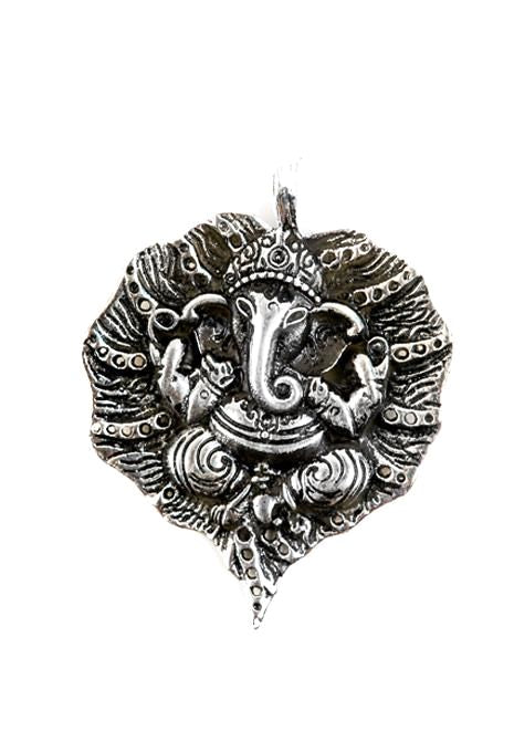 Ganesh On Leaf Pendant