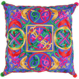Garden Embroidered Cushion