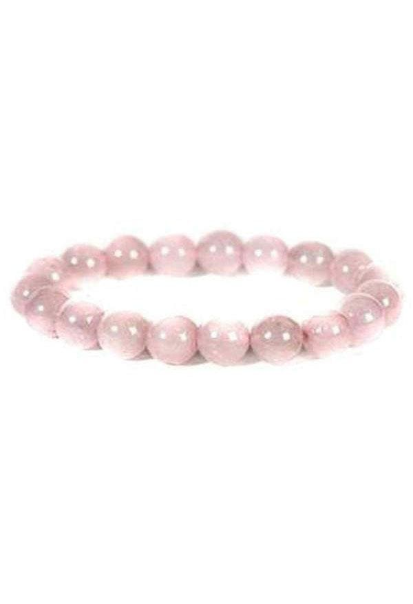 Gemstone Bracelet - 10mm Rose Quartz