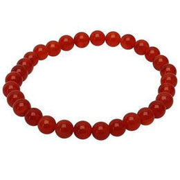 Gemstone Bracelet - 8Mm Red Agate