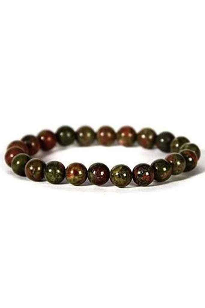 Gemstone Bracelet - 8mm Unakite