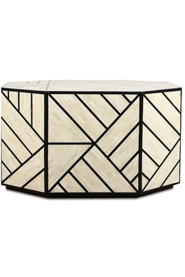 Geometric Bone Inlay Coffee Table