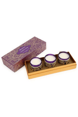 Glass Candles Set Giftpack
