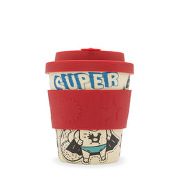 Ecoffee Cup Boo Kids Cups 'Superhero Fuel' 8oz/250ml