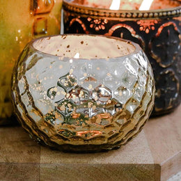 Gold Mercury Jar Candle