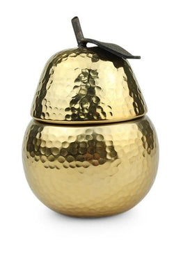 Gold Metal Pear Candle