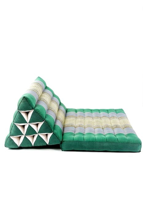 Green & Grey Thai Cushion