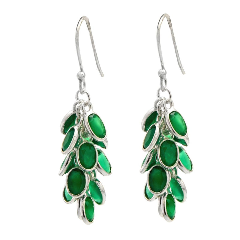 Green Onyx Bunch Earrings