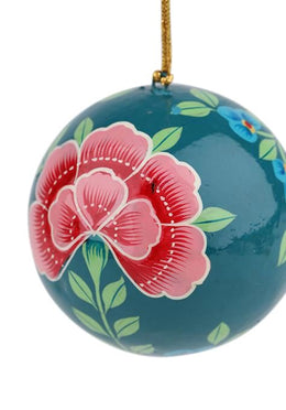 Green Peony Bauble