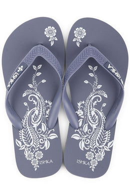 Grey Henna Print Thongs