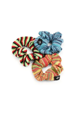 Hair Accessories Scrunchie Set Of 3 Multi Stripe