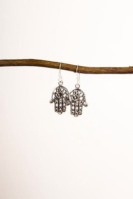 Hamsa & Om Earrings