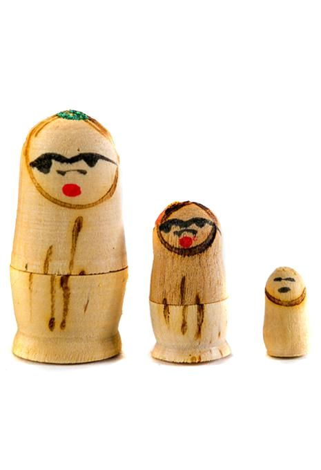 Hand Painted Indian Babushkas - 7 Doll Set