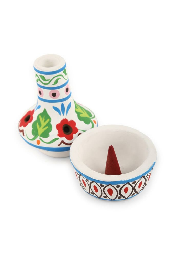 Handpainted Cone Incense Holder