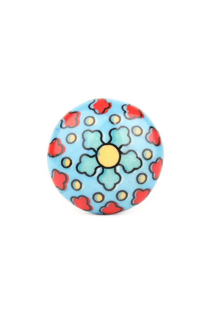 Handpainted Round Ceramic Knob