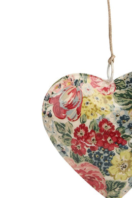Hanging Iron Floral Heart