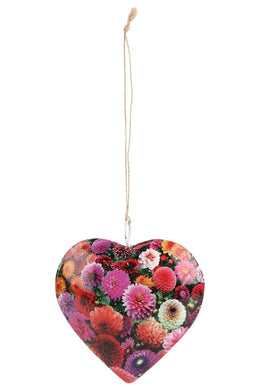 Hanging Iron Flower Heart