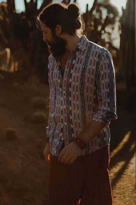 Ikat Long Sleeve Shirt