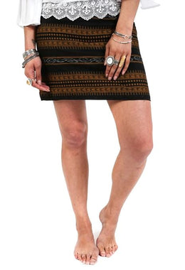 Ikat Mini Skirt