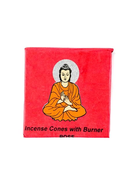 Incense Cone Rose Buddha