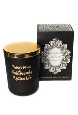 Inde Soy Quote Candle - Sandalwood & Rose