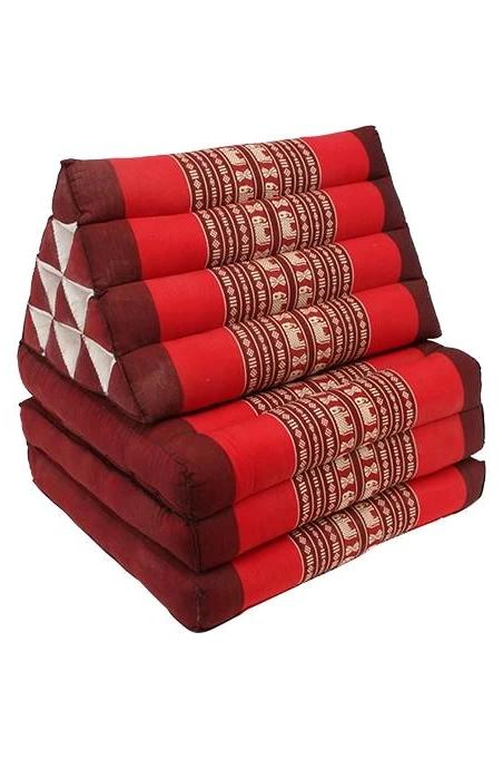 Jasmine Red Tones Thai Cushion