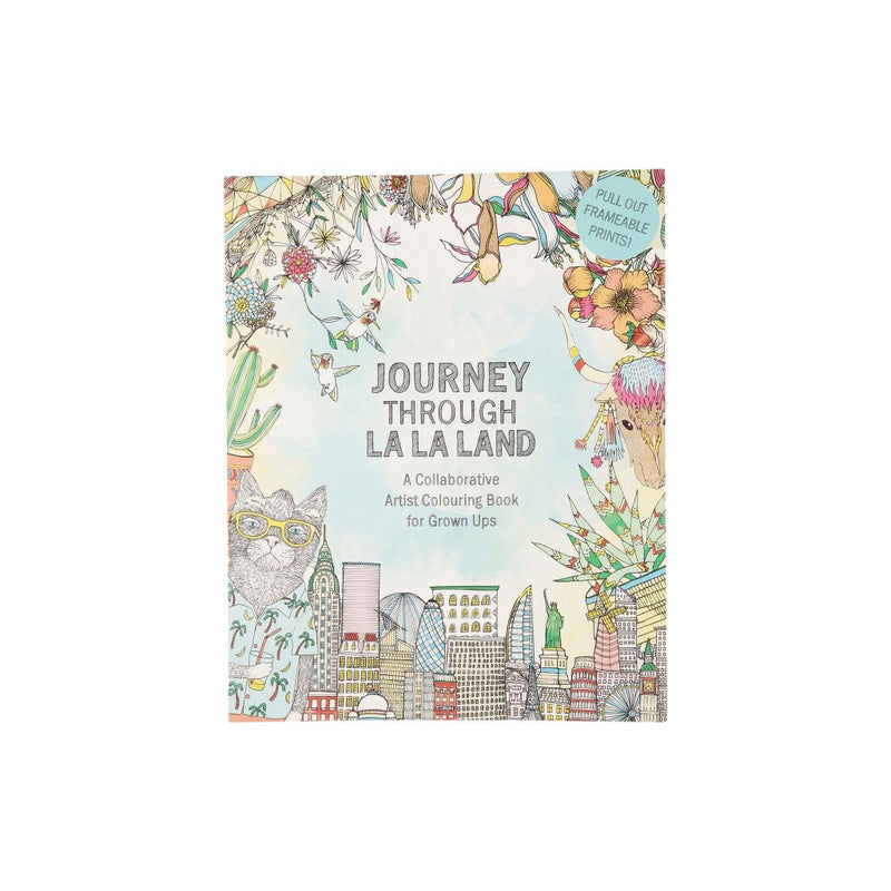 Journey Through La Land: A Coloring Book For Adults