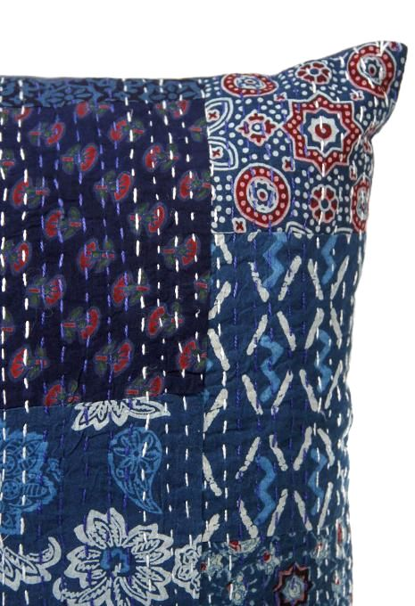 Kantha Cushion Small- Indigo