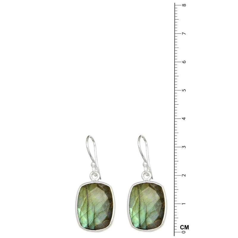 Labradorite Square Earrings
