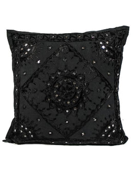 Large Black Pakka Cushion