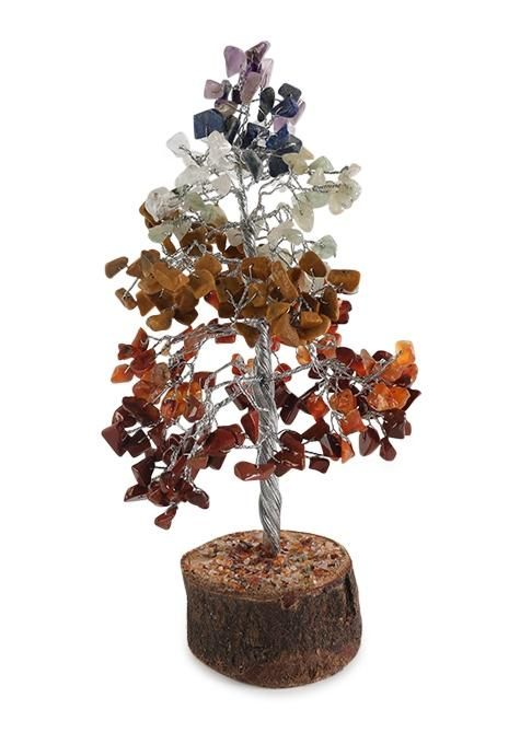 Large Chakra Gemstone Tree