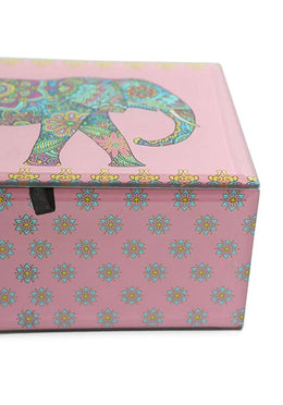 Large Elephant Glass Box