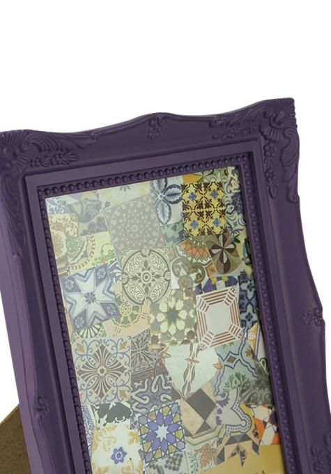 Large Purple French Photo Frame