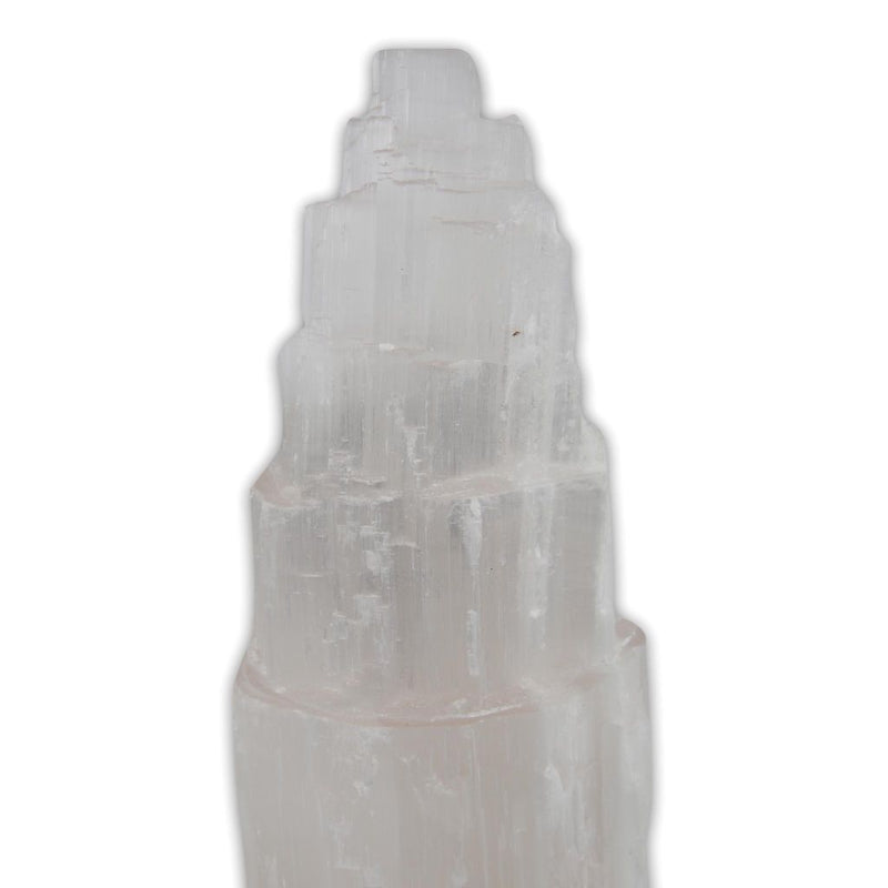 Large Rainbow Mystique Mountain Selenite Usb Lamp