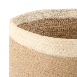 Large Striped Jute Basket