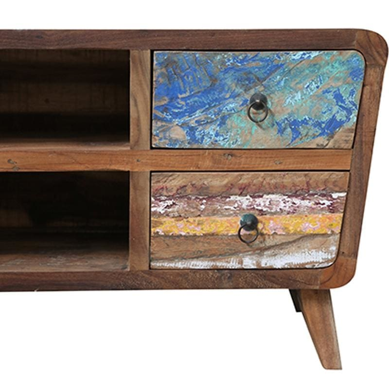 Layered Boatwood Tv Cabinet