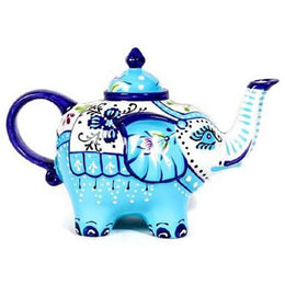 Light Blue Elephant Teapot