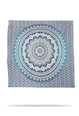 Light Blue Mandala Bedspread