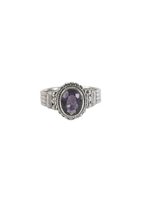 Lined Amethyst Ring