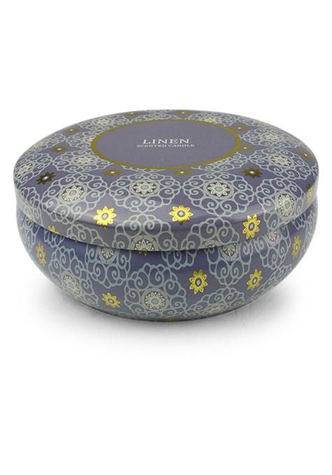 Linen Travel Tin Candle | Tuggl