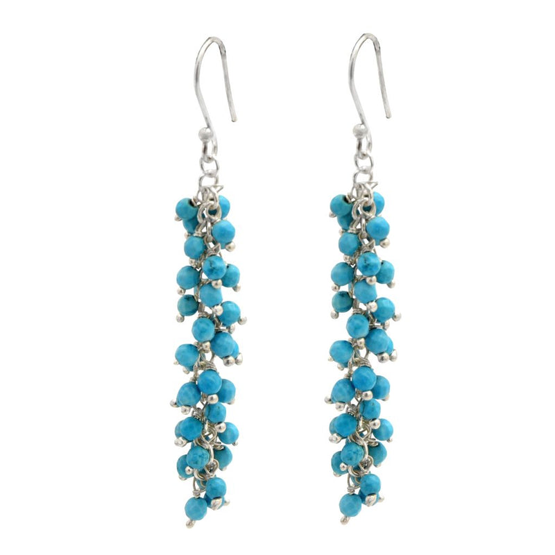 Long Bunch Turquoise Earrings