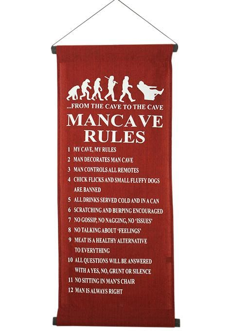 Mancave Rules Banner