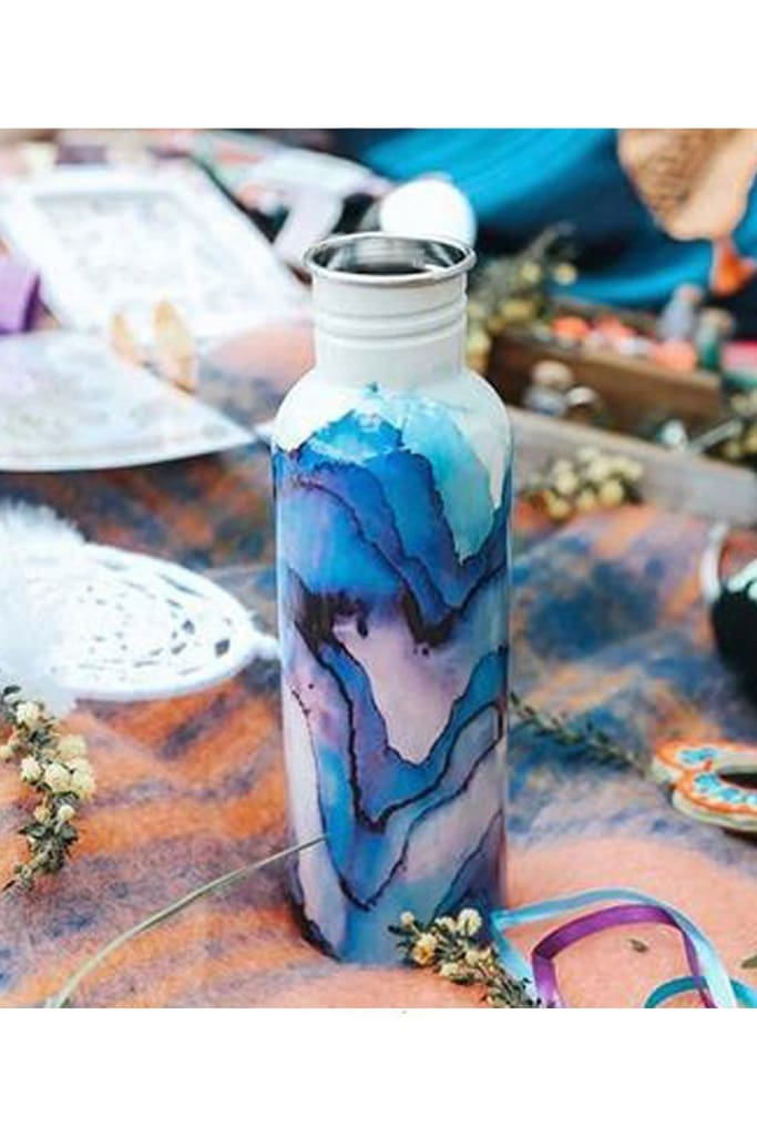 Marble Stainless Steel Water Bottle