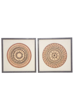 Set of 2 Artifact Framed Art